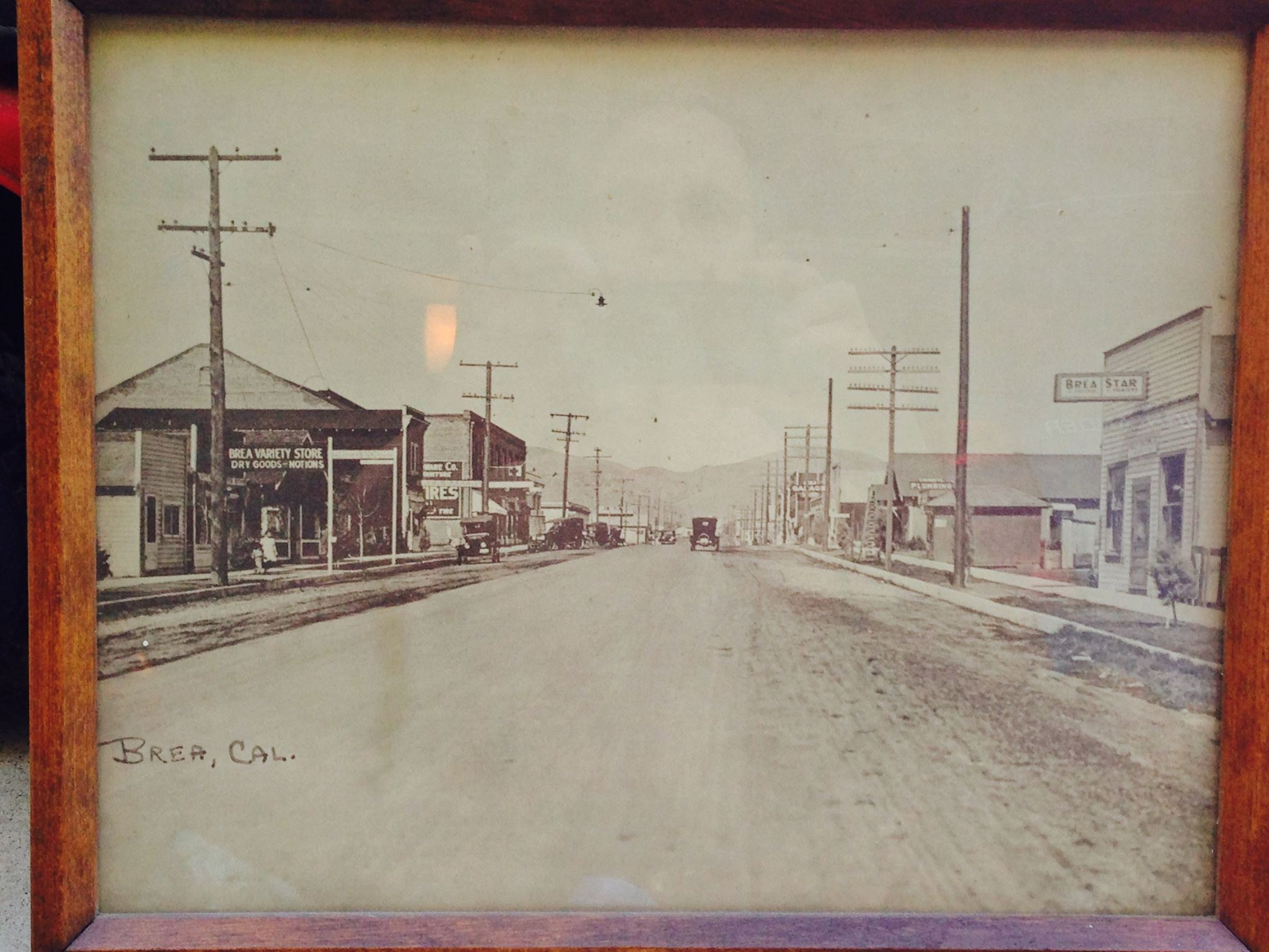 Notice the Brea Star newspaper building on the right. (Photo Courtesy of the Brea Museum & Historical Society)