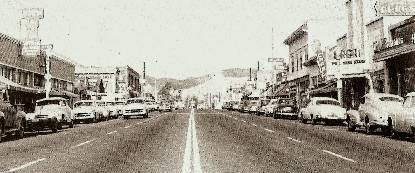 Mid-50's 100 South Block of Pomona Avenue (Photo Courtesy of the Brea Museum & Historical Society)