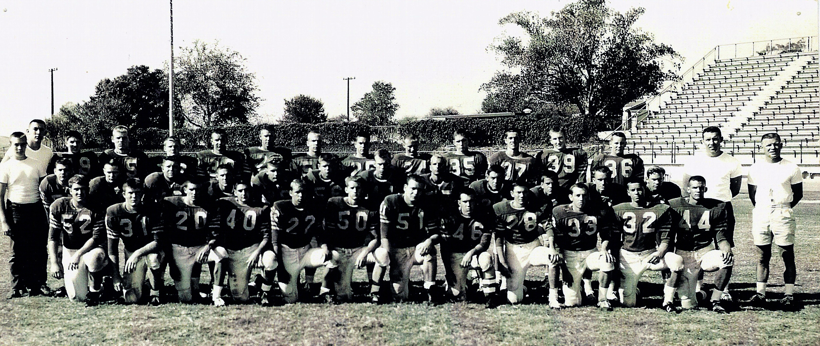 Brea-Olinda's 1961 CIF Championship football team (Photo Courtesy of Terry  Sullivan)