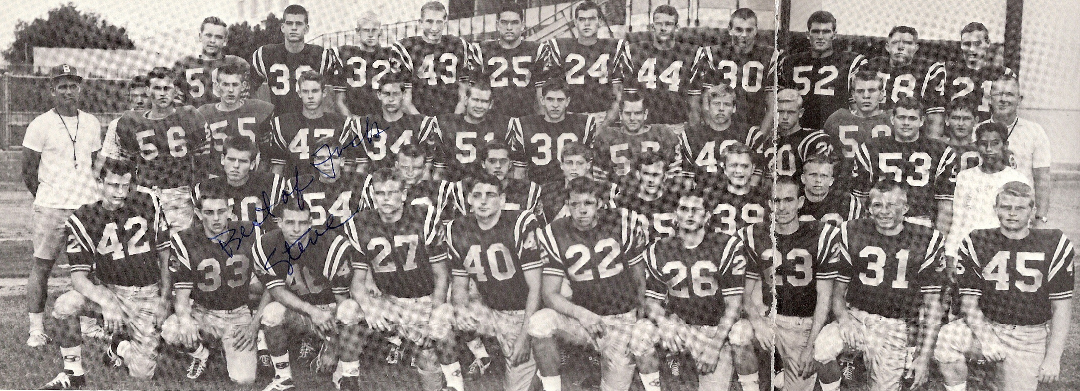 Brea-Olinda's 1962 CIF Championship football team (Photo Courtesy of Terry  Sullivan)