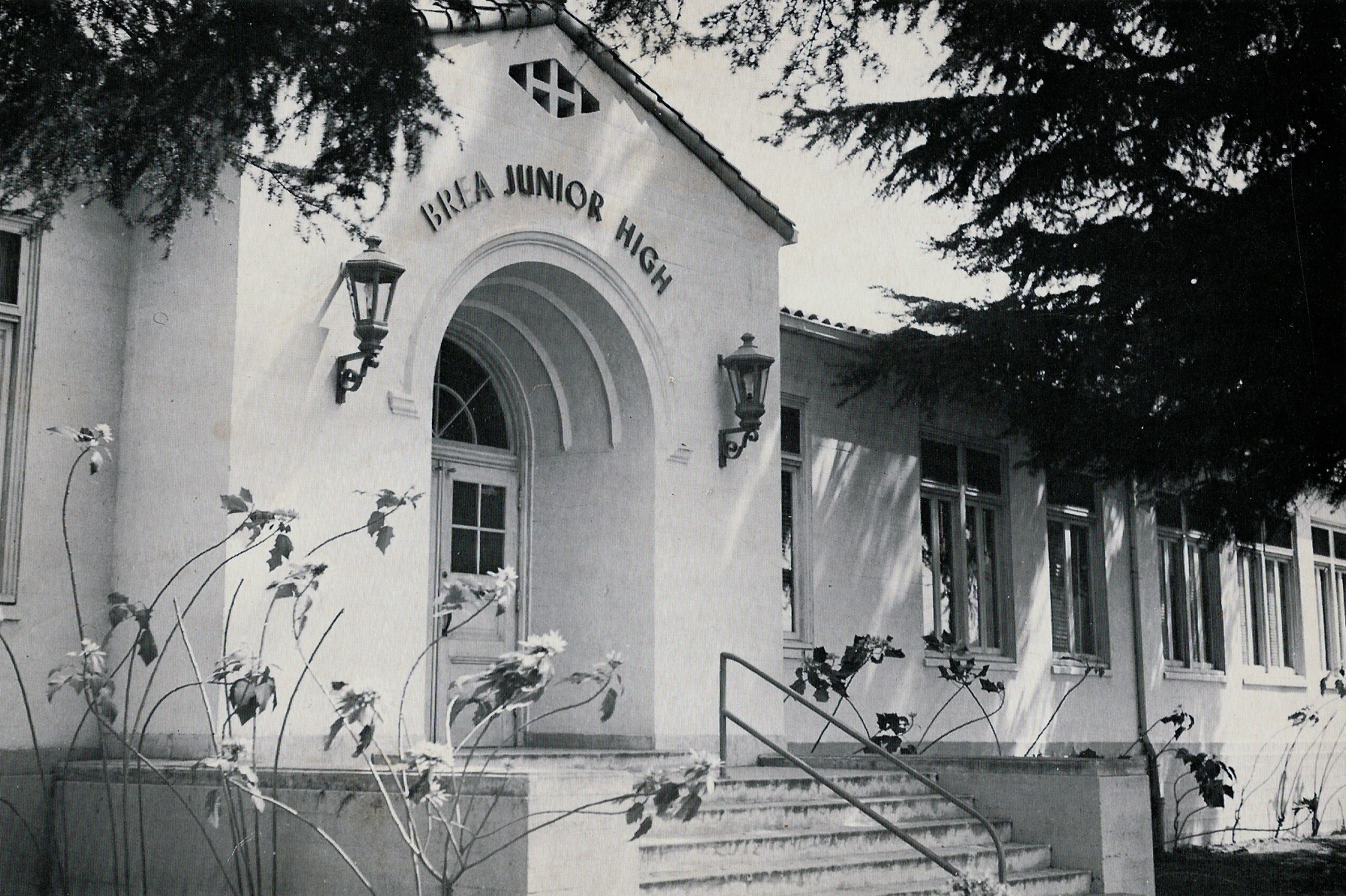 Former main entrance to Brea Jr. High School, (Photo Courtesy of Terry Sullivan)