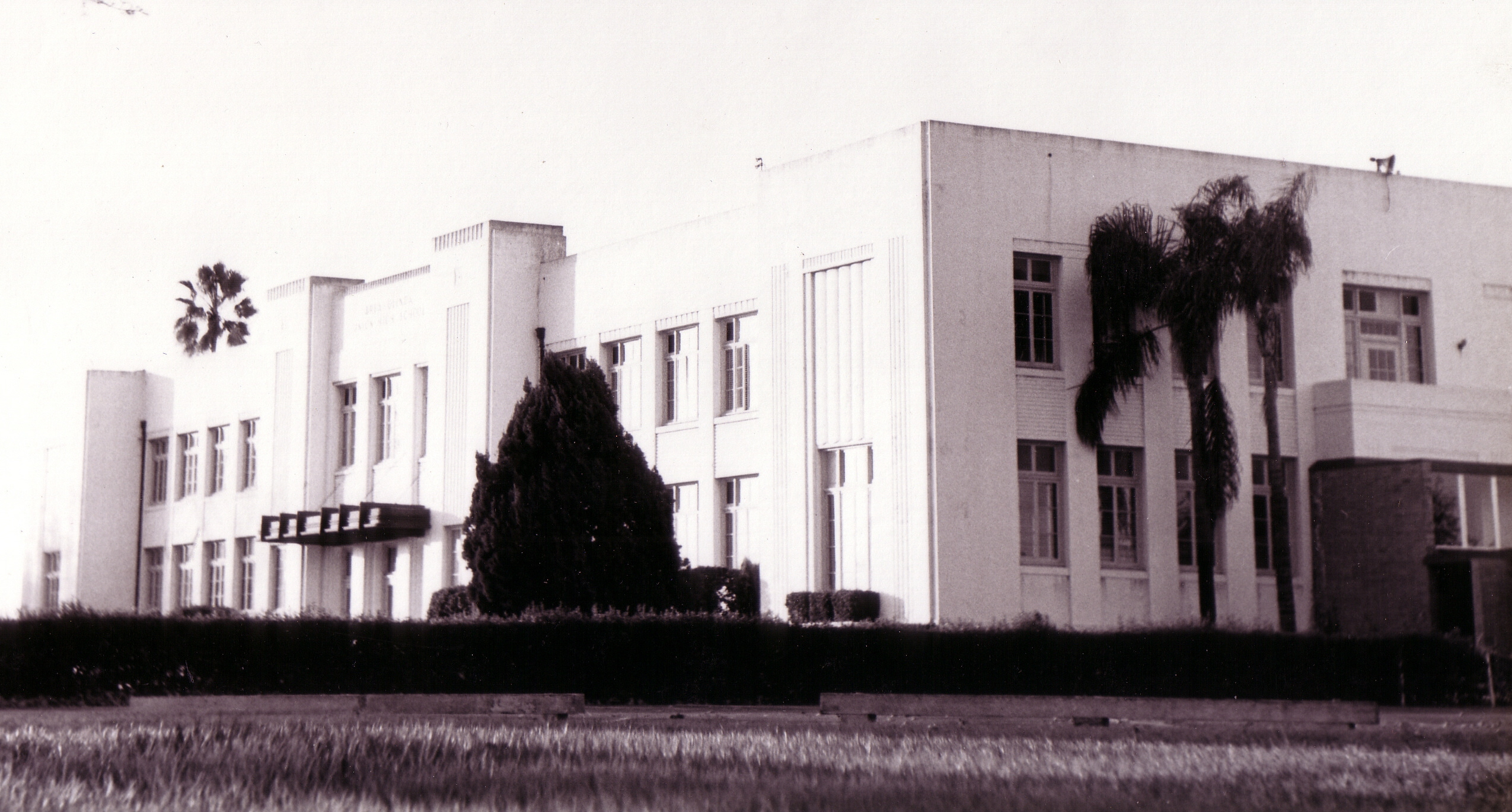 Brea-Olinda High School, as seen from the southeast (Photo Courtesy of the Brea Museum & Historical Society)