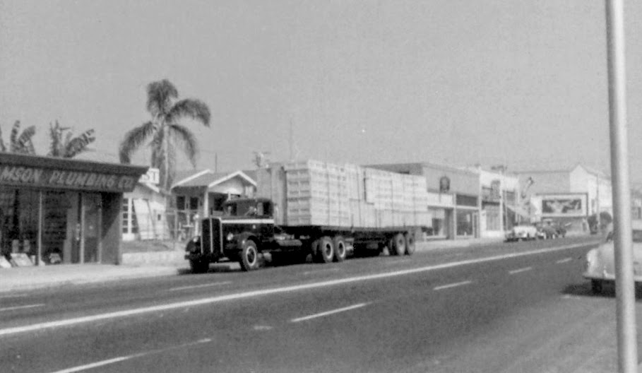 Sullivan Transportation outside Williamson Plumbing, 200 South Block of Pomona Avenue (Photo Courtesy of Terry Sullivan)