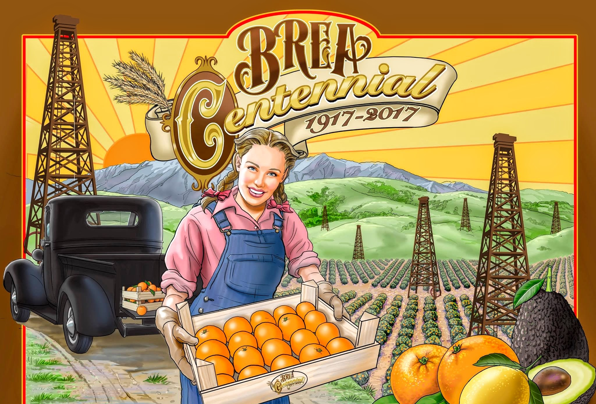 Beautiful Brea Centennial poster (Photo Courtesy of the Brea Museum & Historical Society)